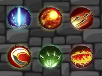 Icons for character skills