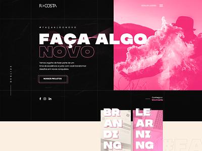 R>Costa Branding - Website layout design agency agency website branding agency websites font outline bold ui ui ux hero banner branding website landing page