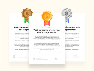 Organizze - Gamification email layout webdesign ui newsletter email marketing mail layout email design mail email template email layout finance app finance gamification