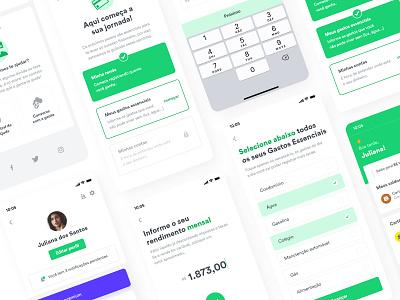 Organizze - Onboarding Process design ui uxui ux getting started dashboard list checklist finance app finance steps process screens onboarding