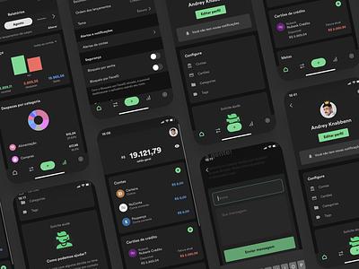 Organizze - App Dark Mode bank dark mode finance dark mode dark mode app app ux dark ui organizze dark mode darkmode