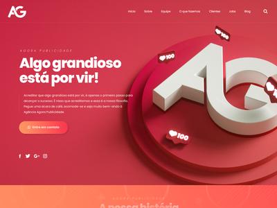Agora Publicidade - Landing Page