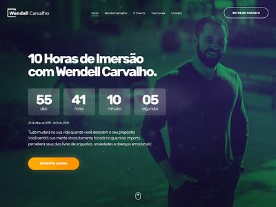 Landing Page - Wendell Carvalho button hero banner hero ui design landing page concept conversion coaching ux landing page ui landing page