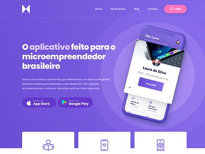 Supermei - Landing Page aplicativo app ios mobile app mobile landing page hero landing header ux ui