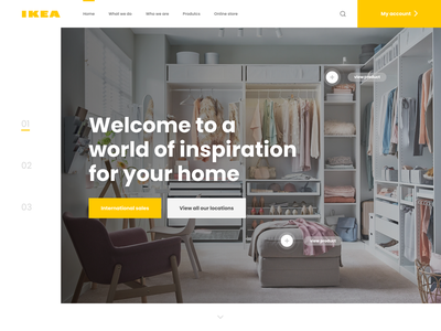 IKEA - Landing page concept redesign concept hero banner landing page hero hero ui ux landing page ui ikea landing page ikea landing redesign landing page ikea