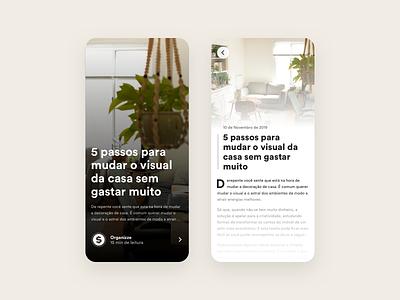 Organizze - App Article Concept app article design blogger organizze minimal sketch post news blog app article app single article article uiux ui blog