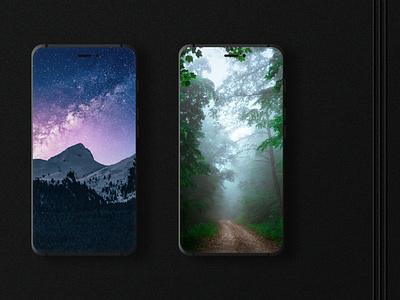 Mockup Design for phone App Presentation.