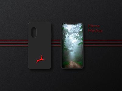 Phone Mockup Design Dark