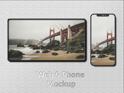 Web and phone mockup mockupfree mockup webphone web app