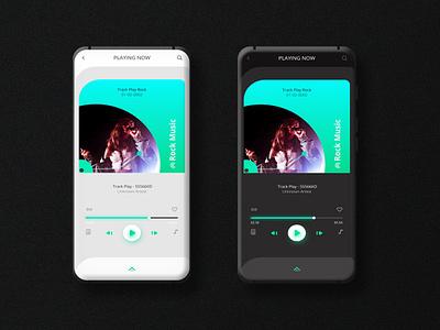 Music Player Play Screen UI music-player light dark ui music app