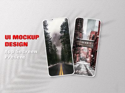 Phone Mockup Design soccer graphics typography ui brand dise