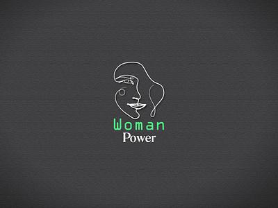 Women Power One line art logo. minimalism minimal contour plant line leaf design illustration art abstract drawing graphic
