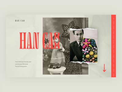 Artist's portfolio site video promo fashion branding typography concept logo design portfolio site ux ui web design animation