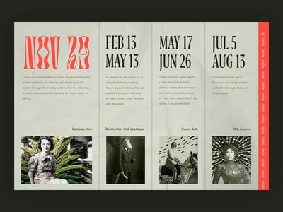 Artist's portfolio site web design fashion video ux ui typography promo portfolio site concept branding animation