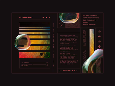 Homepage Concept illustration product design branding hero image homepage bubbles dark theme vector after effect typography concept ui ux brutalism animation video
