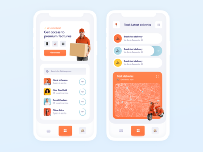 Delivery App ux uiux ui mobile app mobile minimal ios14 friendly delivery app delivery colorful clean apple app