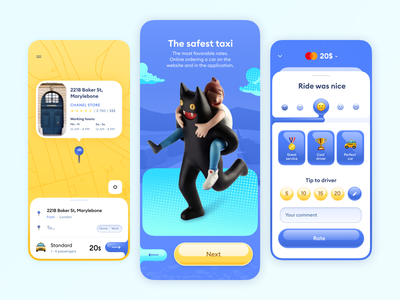 Taxi App 🚖 ios ios14 trend typography colorful bright apple uber taxi app taxi app design concept mobile application ux ui app