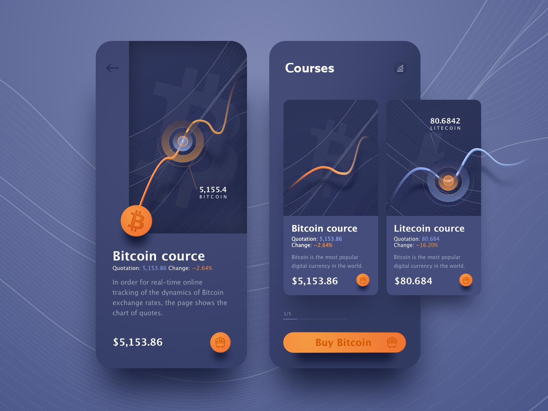 Cryptocurrency App design app design ui interaction design mobile app design ux  ui ux