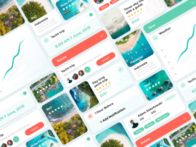 Travel app bright color mobile app design sketch concept nature blue minimal ios interface design color clean app dribbble webdesign web ux ui mobile
