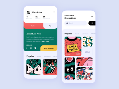 Illustrations store app