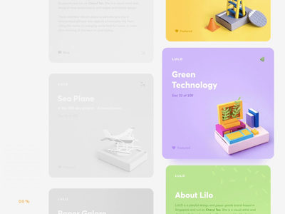 LULO site preloader animation \\ Product design preload app typography concept bright clean colorful papercraft paper art cards ux ui product web animation preloader web design product design