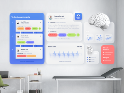 Medical AR clean concept health skeumorphism web design product design ux uiux ui dashboard ui app medicine dashboard augmented reality