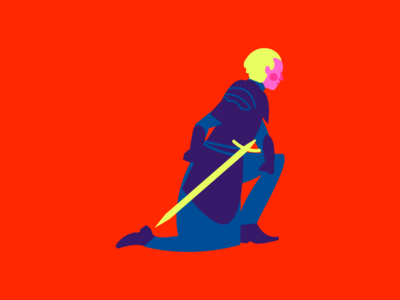 Brienne of Tarth : Knight of the Seven Kingdoms wacom adobe illustrator hbo girl power character design vector lady brienne game of thrones illustration