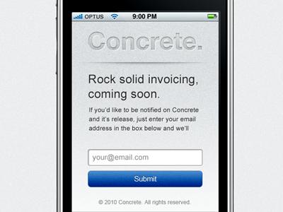 Concrete iPhone concrete grey helvetica texture iphone sign up