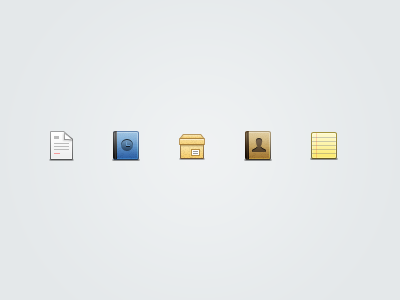 Concrete web app icons icon interface grey