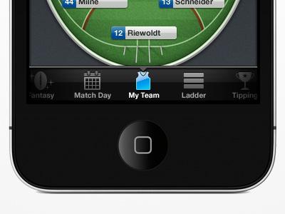 Tab bar Aussie Rules LIVE 2011 tab bar icons green blue ios