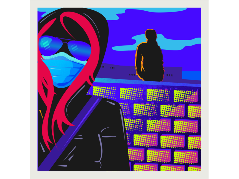 Masked design vector illustration color digtial illustrator 2020
