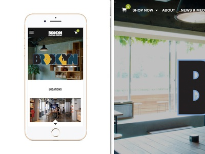 Brooklyn Roasting design website responsive