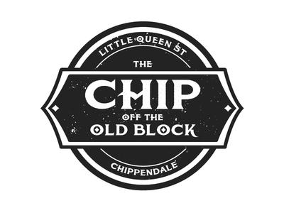 Chippendale Laneway Bar design identity concept logo