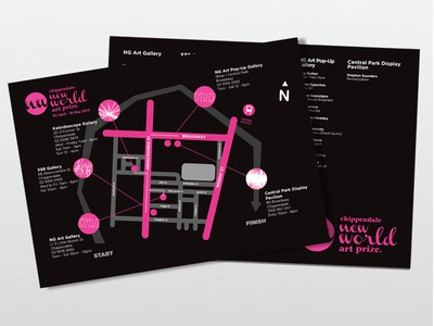 Exhibition Map and Walking Path design map