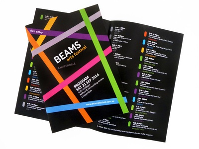 Beams Program Design graphicdesign