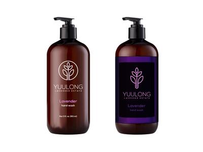 Label concept for Yuulong Lavender Estate branding design packaging