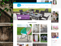 Sue Ryder Shop web furniture e-commerce website design ux user interface ui shop responsive mobile magento landing page home page ecommerce