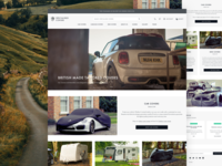 Specialised Covers luxury cars e-commerce responsive landing page home page website design user interface shop magento ecommerce ux ui