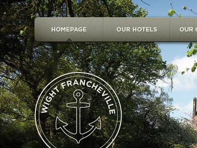 Hotel Website Header website header navigation ui