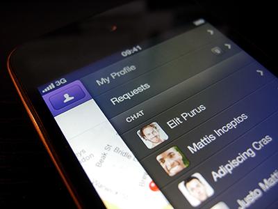 Social App WIP - iPhone iphone ui ios app