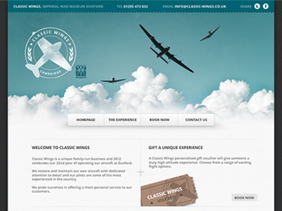 Classic Wings Website header navigation ui website emblem logo mark airplane