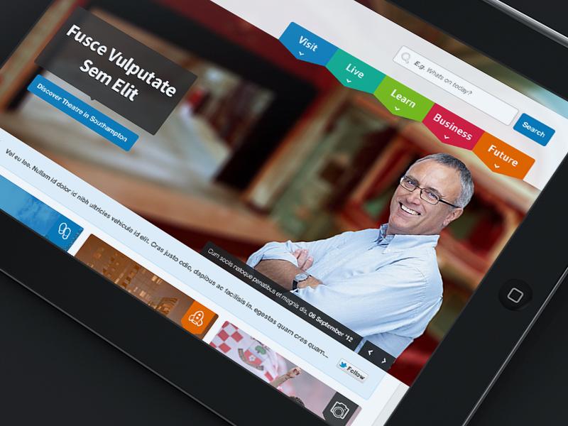 Navigation ui menu website