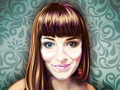Self Portrait Vector Illustration photo realism self portrait digital illustration illustrator illustration portrait vector