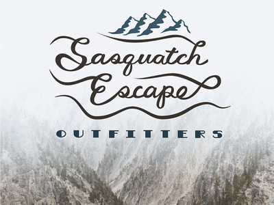 Outdoor Adventure Outfitters logo concept cursive logo concept illustration logo typography illustrator hand lettering brush pen vector