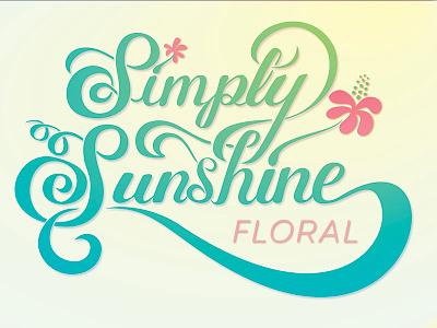 Flower Shop Logo flowers lettering hand-lettering typography illustrator design logo digital illustration