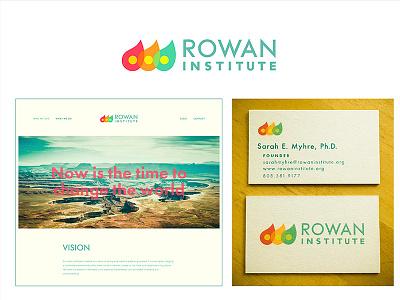 Rowan Institute Identity System graphic design branding designer typography logo business card web design flat design ellipses branding