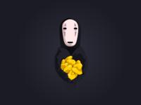 Interactive Kaonashi - all code gsap greensock svg animation javascript interactive