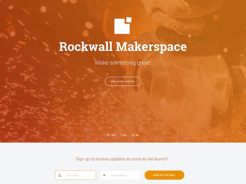 Rockwall Makerspace logo announcement website makers texas rockwall makerspace
