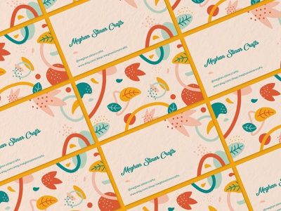 Business Cards pattern floral organic simplistic illustration business card