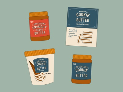Cookie Butter ice cream cookie trader joes design minimal graphic simplistic typography illustration
